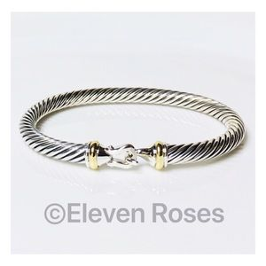 David Yurman 5mm Cable Buckle Hook Bangle